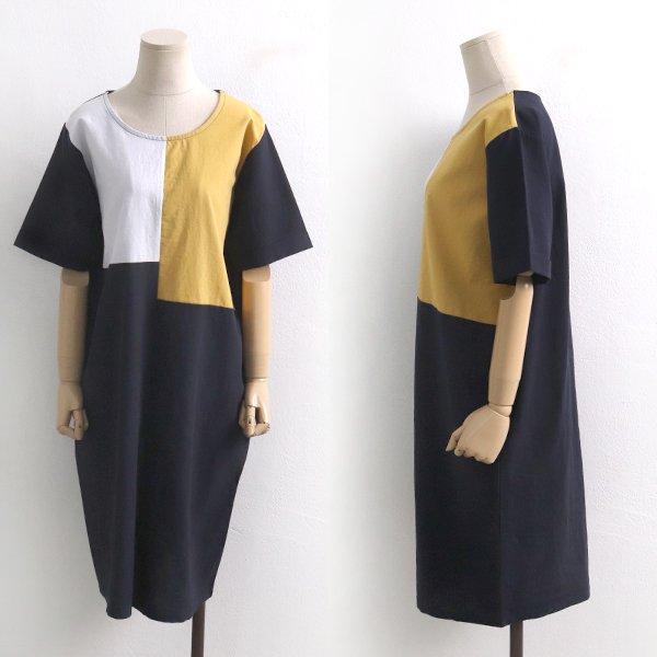 모스트배색원피스 BS5995M907  도매 배송대행 미시옷 임부복