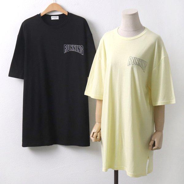 박시핏러닝반팔티 MO6018M907  도매 배송대행 미시옷 임부복