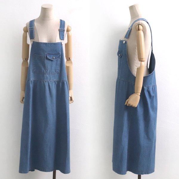 파머멜빵데님원피스 CH6037M907  도매 배송대행 미시옷 임부복