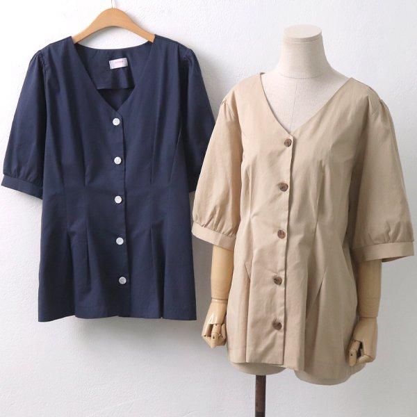 큐롯퍼프블라우스 CH6295M908  도매 배송대행 미시옷 임부복
