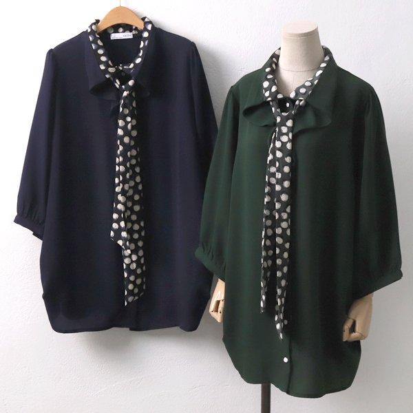 레오 타이 블라우스 IR6554M909  도매 배송대행 미시옷 임부복
