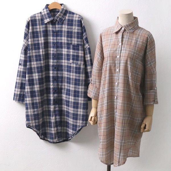 널디컬러체크롱남방 IL6556M909  도매 배송대행 미시옷 임부복
