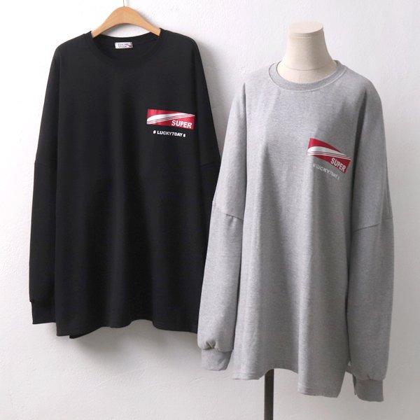 슈퍼레터링롱맨투맨 PO6566M909  도매 배송대행 미시옷 임부복