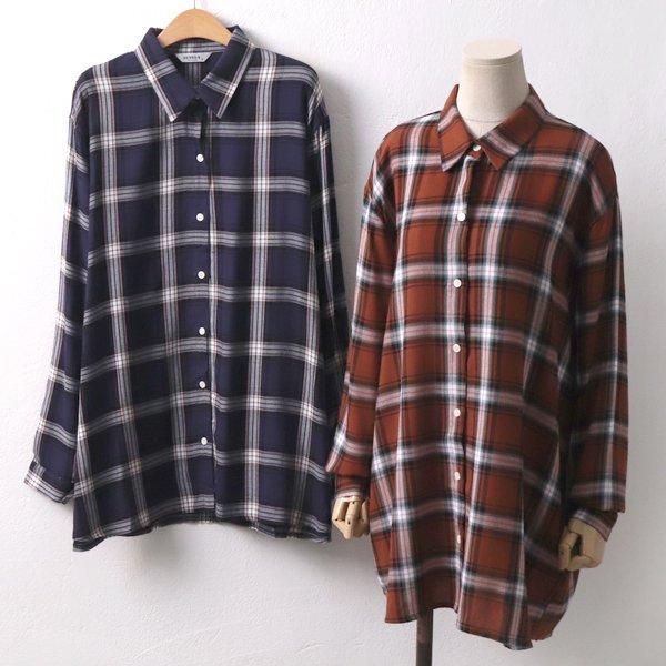 보이핏타탄체크남방 LY6571M909  도매 배송대행 미시옷 임부복