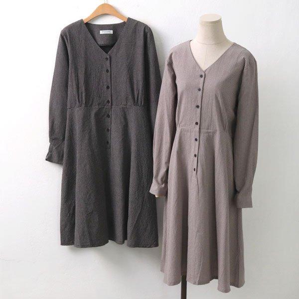 상띠에르체크원피스 DB6703M909  도매 배송대행 미시옷 임부복