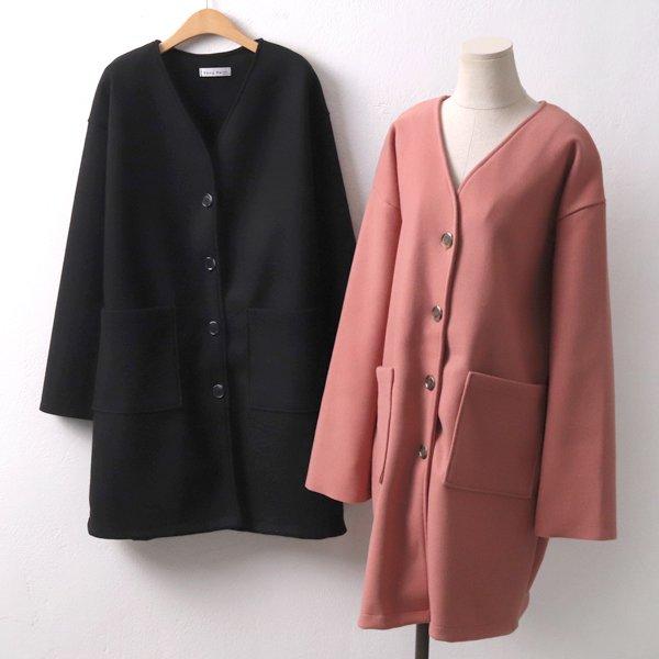 미유브이넥 울 코트 YP6850M910  도매 배송대행 미시옷 임부복