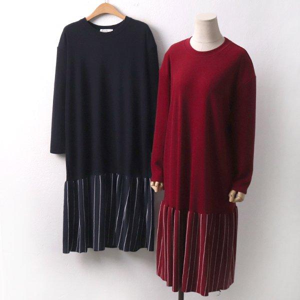 첼로줄지롱원피스 JD7068M911  도매 배송대행 미시옷 임부복