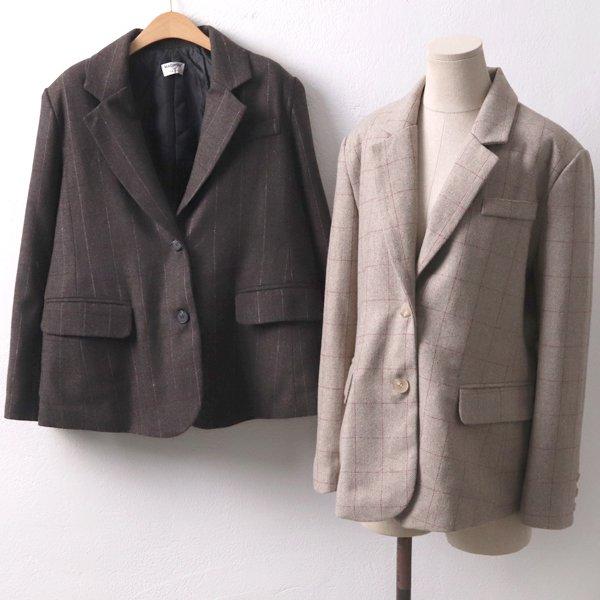 헤링본체크모직자켓 MO7072M911  도매 배송대행 미시옷 임부복