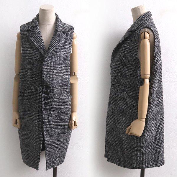 포켓체크롱조끼자켓 DB7299M911  도매 배송대행 미시옷 임부복