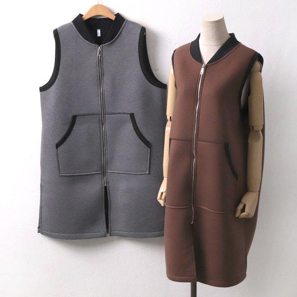 베타집업롱베스트 MN7329M911  도매 배송대행 미시옷 임부복