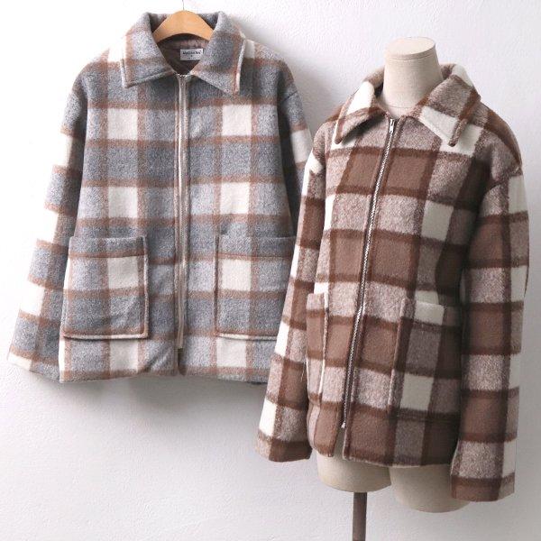 체스체크울집업자켓 MO7521M912  도매 배송대행 미시옷 임부복