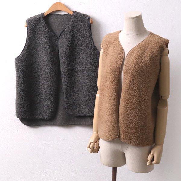 양털심플오픈베스트 YB7925M001  도매 배송대행 미시옷 임부복
