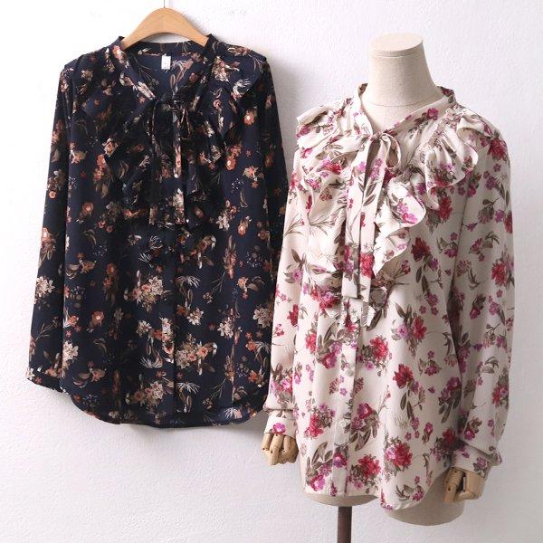 러블리 꽃 블라우스 PE7938M001  도매 배송대행 미시옷 임부복