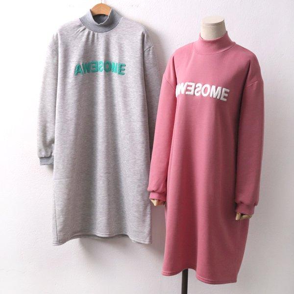 기모어썸폴라원피스 YB7939M001  도매 배송대행 미시옷 임부복