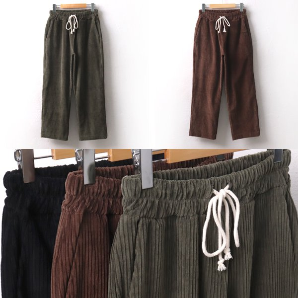빅코듀로이끈팬츠 PE7943M001  도매 배송대행 미시옷 임부복