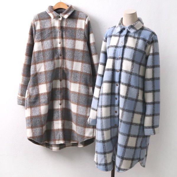 윈터 울 체크롱자켓 BN7952M001  도매 배송대행 미시옷 임부복