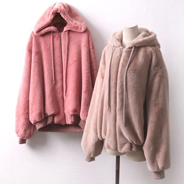 따뜻두툼털후드집업 WB7953M001  도매 배송대행 미시옷 임부복
