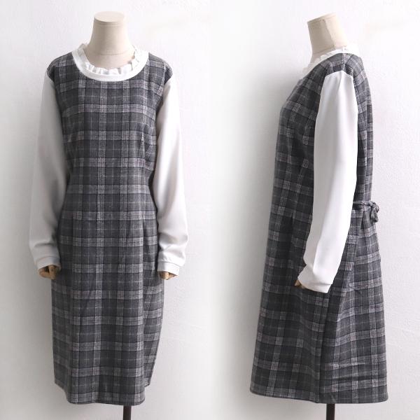 체크클래식원피스 BS7996M001  도매 배송대행 미시옷 임부복
