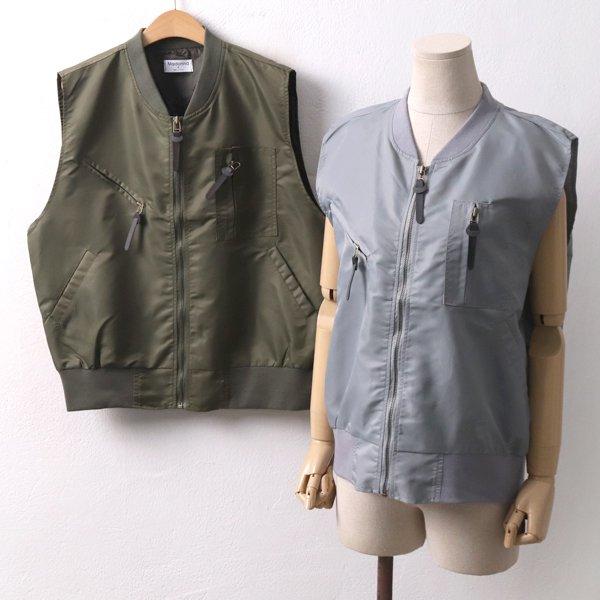 캐주얼포켓항공조끼 MO8015M001  도매 배송대행 미시옷 임부복