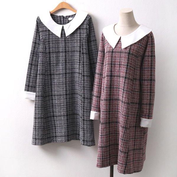 클래식트위드원피스 IR8024M001  도매 배송대행 미시옷 임부복