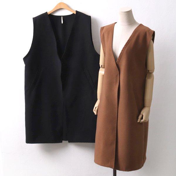모직오픈롱베스트 PS8053M001  도매 배송대행 미시옷 임부복