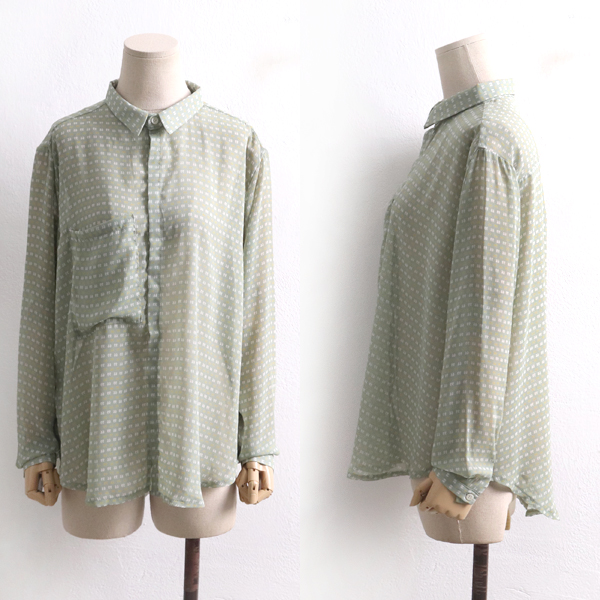 콤마포인트블라우스 MYD8056M001  도매 배송대행 미시옷 임부복