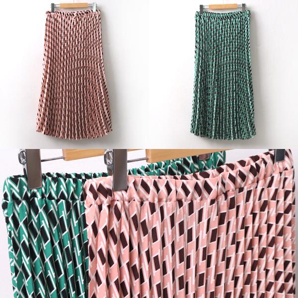 플리츠다이아스커트 LT8086M001  도매 배송대행 미시옷 임부복