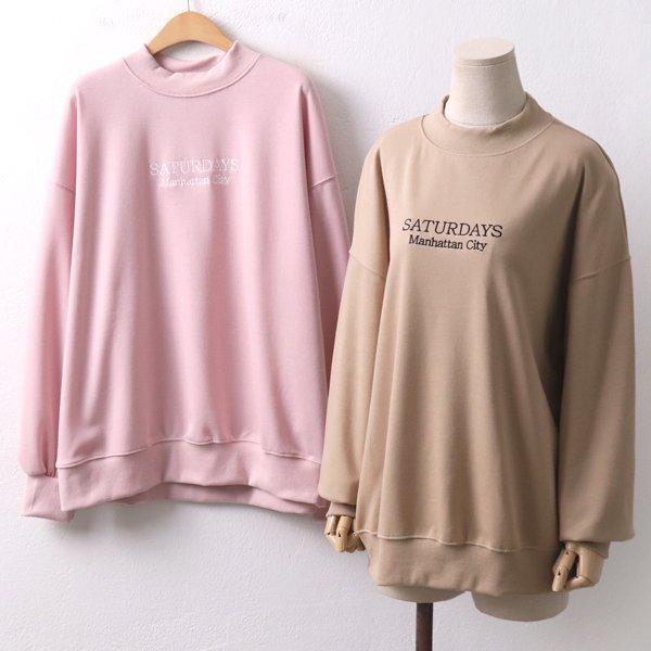 데이데이자수맨투맨 EZ8088M001  도매 배송대행 미시옷 임부복