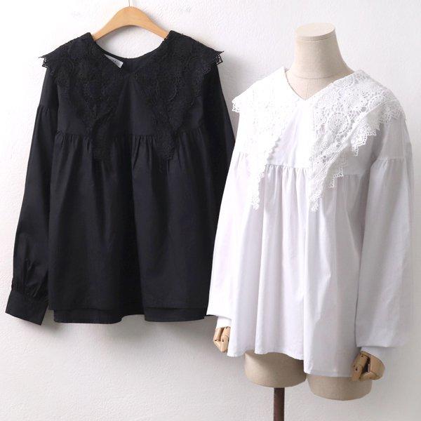 빅카라셔링블라우스 LT8089M001  도매 배송대행 미시옷 임부복