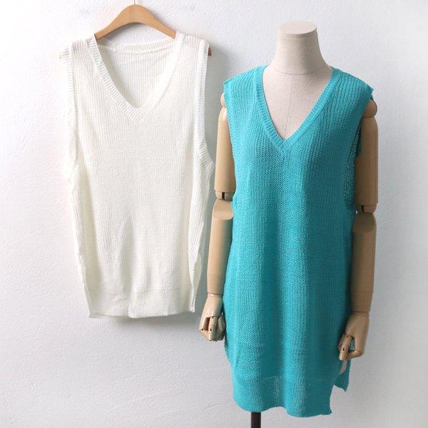 브이하찌슬림롱조끼 RMD8095M001  도매 배송대행 미시옷 임부복