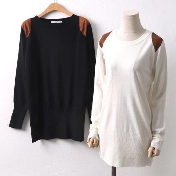 스웨이드패치니트 RMD8110M001  도매 배송대행 미시옷 임부복