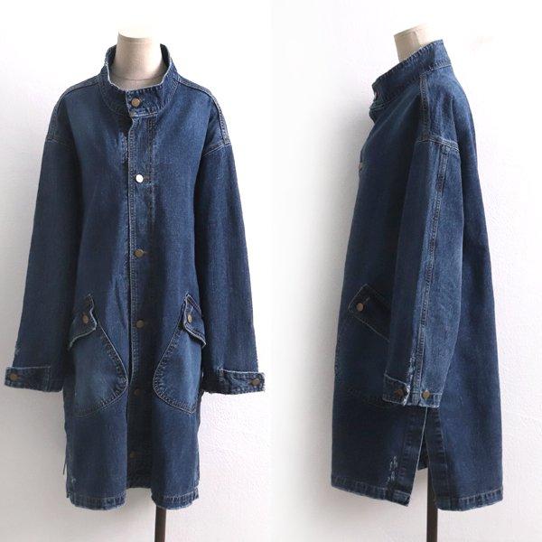 레터링포켓데님자켓 DO8121M001  도매 배송대행 미시옷 임부복