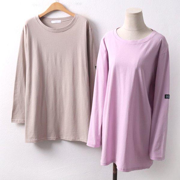 라벨루즈핏무지티 ZY8272M002  도매 배송대행 미시옷 임부복