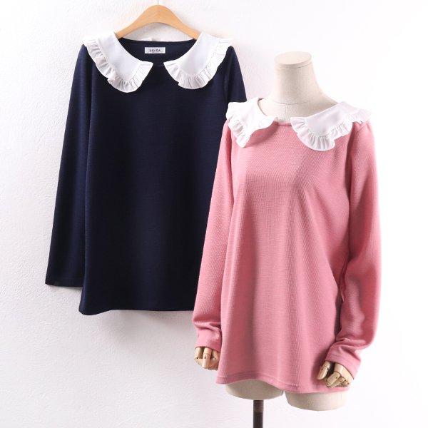 빅카라프릴니트셔츠 BG8328M002  도매 배송대행 미시옷 임부복