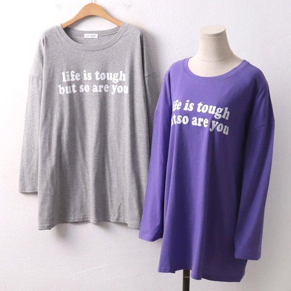 라이프영문롱티셔츠 RA8355M002  도매 배송대행 미시옷 임부복