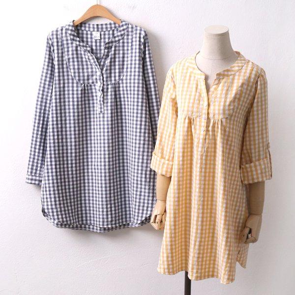 헤링본체크롱남방 DD8360M002  도매 배송대행 미시옷 임부복