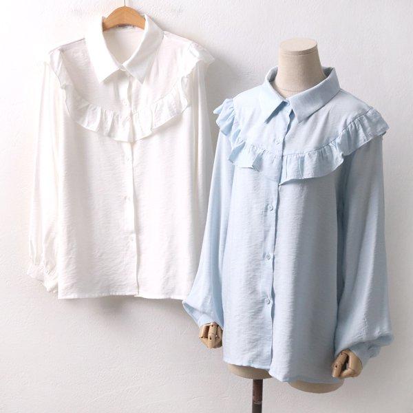 하늘퍼프블라우스 BA8362M002  도매 배송대행 미시옷 임부복