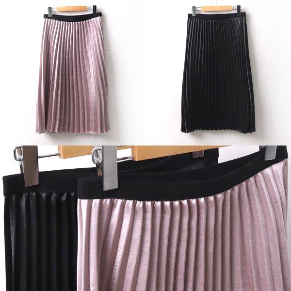 광택플리츠스커트 LY8386M002  도매 배송대행 미시옷 임부복