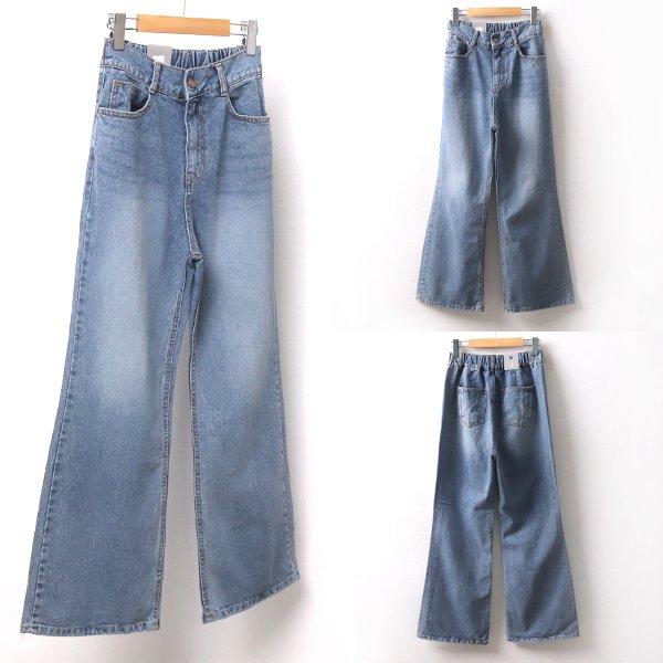 와이드핀턱데님팬츠 DO8398M002  도매 배송대행 미시옷 임부복