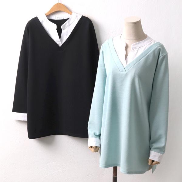레이어드니트카라티 OL8424M002  도매 배송대행 미시옷 임부복