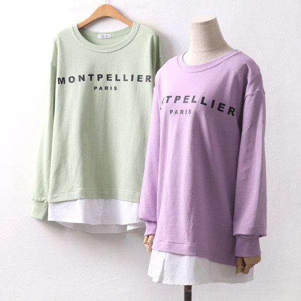 몽펠레셔츠맨투맨 OL8614M002  도매 배송대행 미시옷 임부복