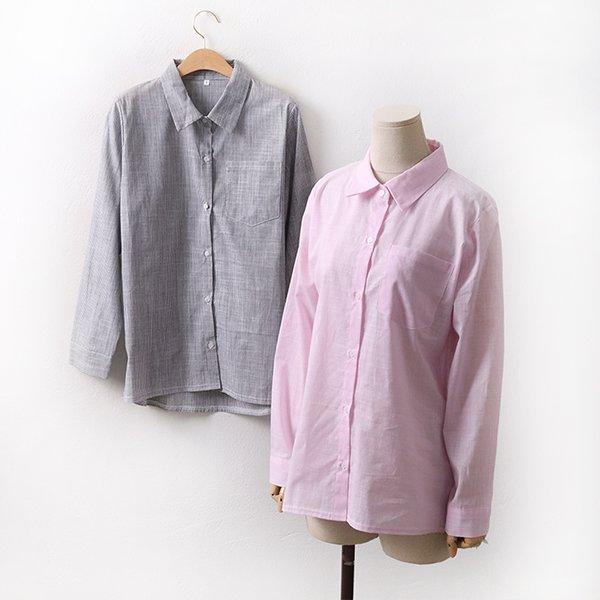 빅사이즈 화이트줄지남방 WW8997M003 도매 배송대행 미시옷 임부복