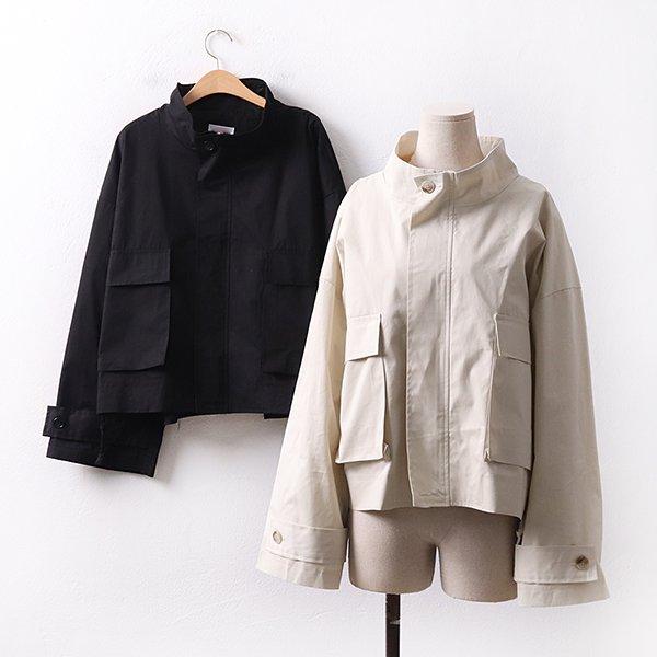 빅사이즈 스트링트렌치숏야상 CH9042M003 도매 배송대행 미시옷 임부복