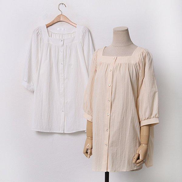 빅사이즈 줄자수퍼프블라우스 GY9455M005 도매 배송대행 미시옷 임부복