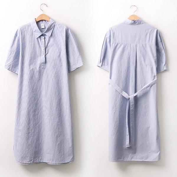 빅사이즈 벨트줄지셔츠원피스 DD9470M005 도매 배송대행 미시옷 임부복