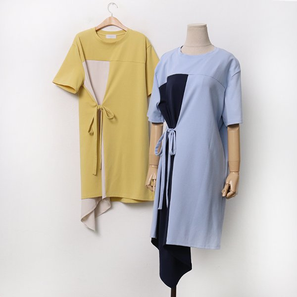 빅사이즈 반전리본절개원피스 DL9486M005 도매 배송대행 미시옷 임부복