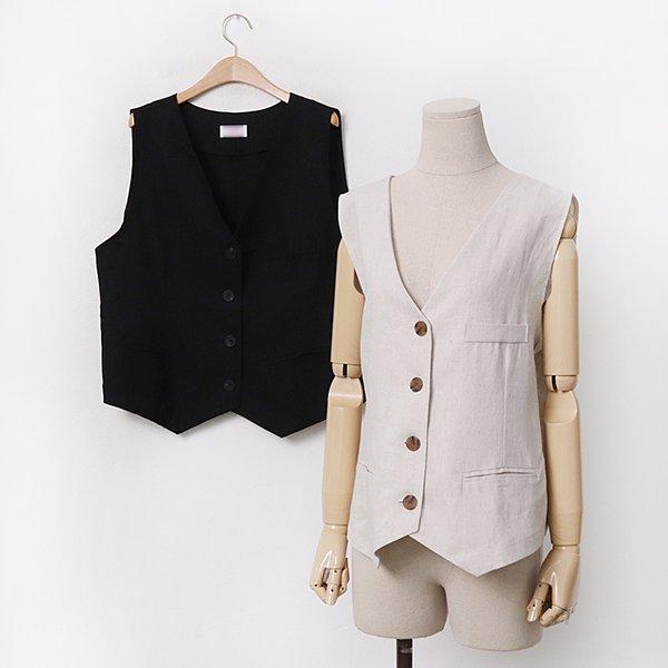 빅사이즈 썸머린넨브이베스트 CH9491M005 도매 배송대행 미시옷 임부복