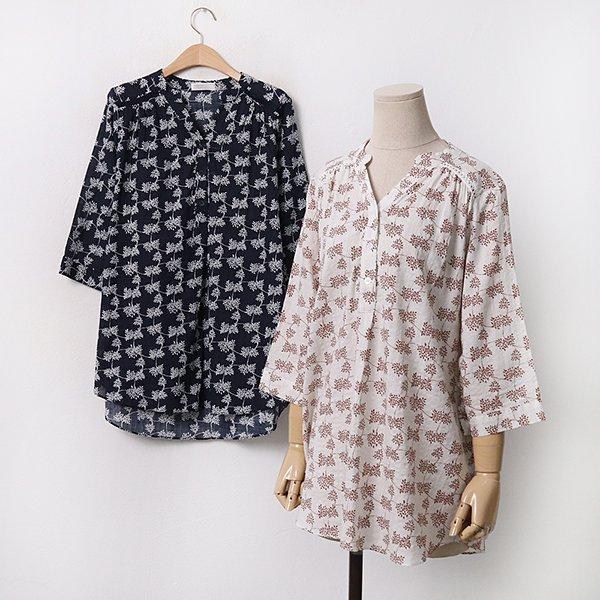 빅사이즈 패턴셔링7부반셔츠 OL9497M005 도매 배송대행 미시옷 임부복