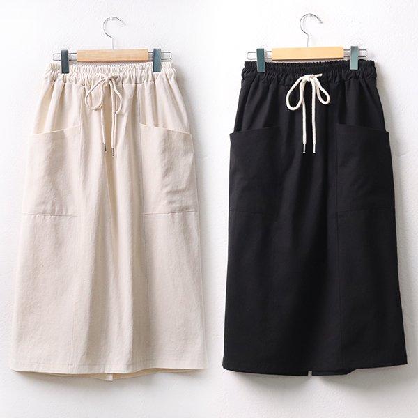 빅사이즈 앞포켓면롱스커트 DD9501d005 도매 배송대행 미시옷 임부복