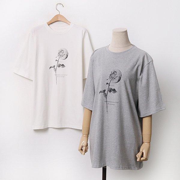 빅사이즈 문로즈루즈반팔티 GY9504M005 도매 배송대행 미시옷 임부복